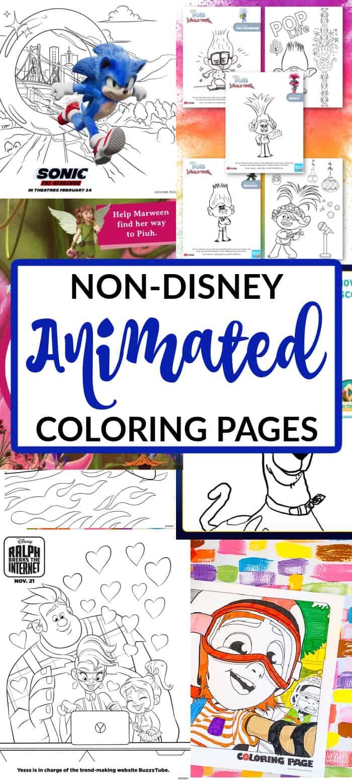 Non-Disney Animated Movies. Movie Coloring Pages. Trolls Coloring Pages. Wonderpark Coloring Pages. Sonic coloring pages printable. Animated Movie Printable Coloring Pages for Kids