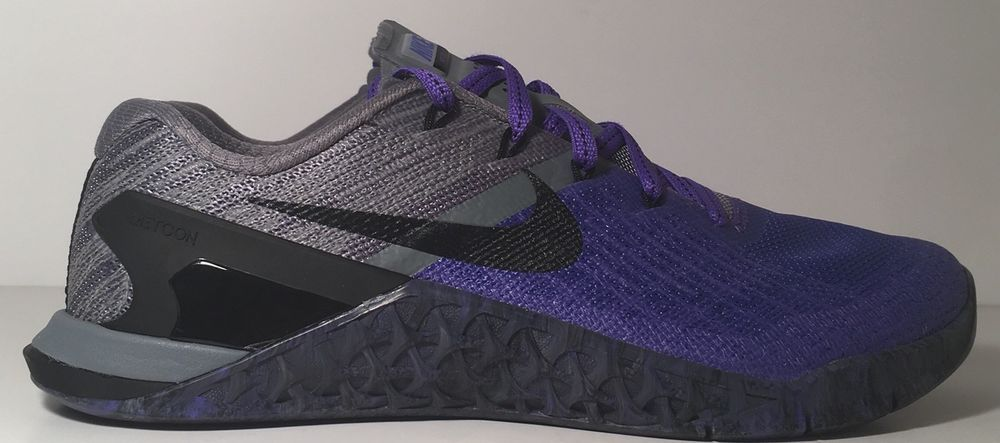 the best attitude bc40f 4d2be SZ.11.5 Nike WMNS Metcon 3 849807-500 PersianViolet Black Grey