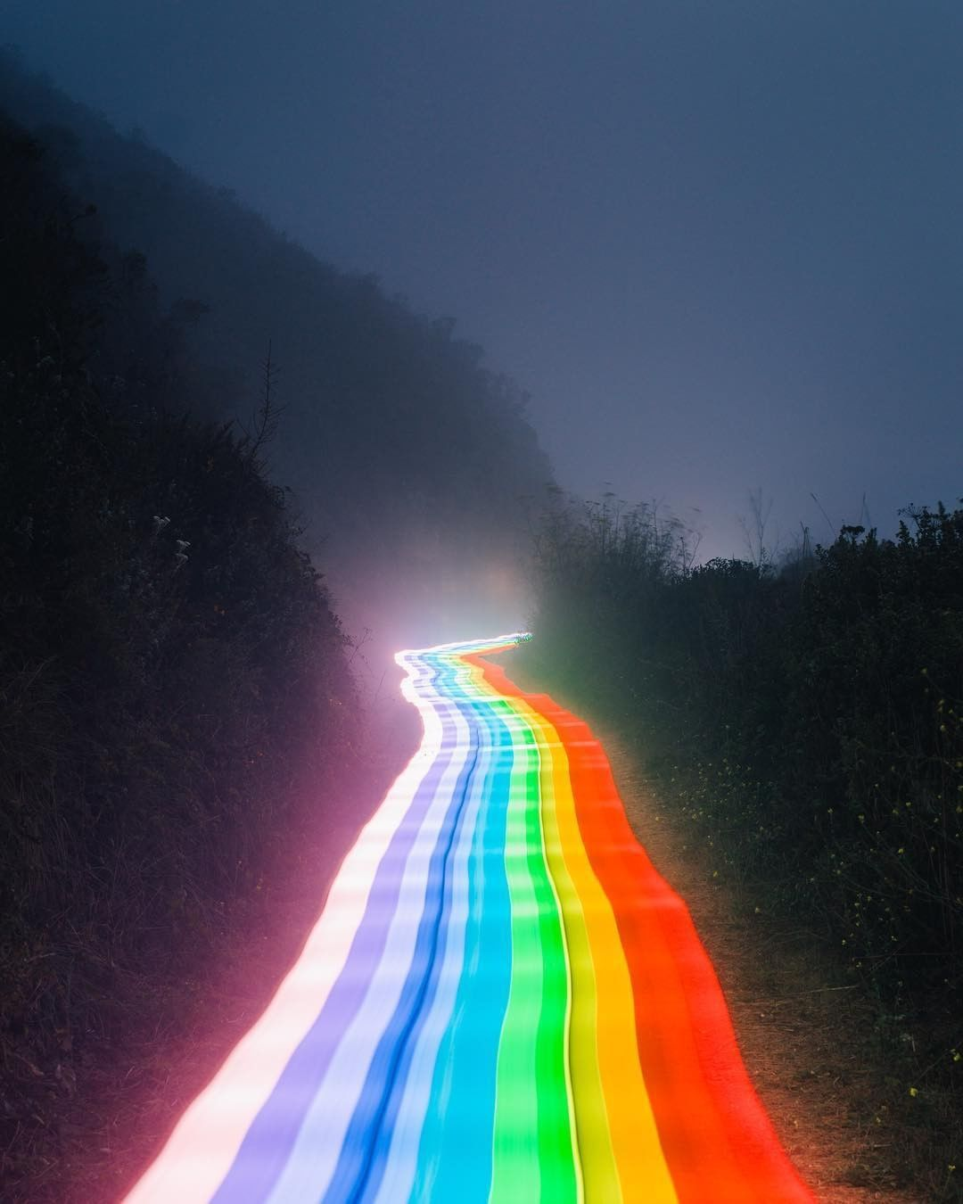 Ban Do On Instagram Follow The Rainbow Road But Seriously We Posted One Of Danielmercadante S Photos Of Rainbow Aesthetic Rainbow Wallpaper Rainbow Road