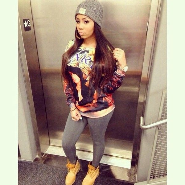 pix for gt black timberland boots women outfit dope girl