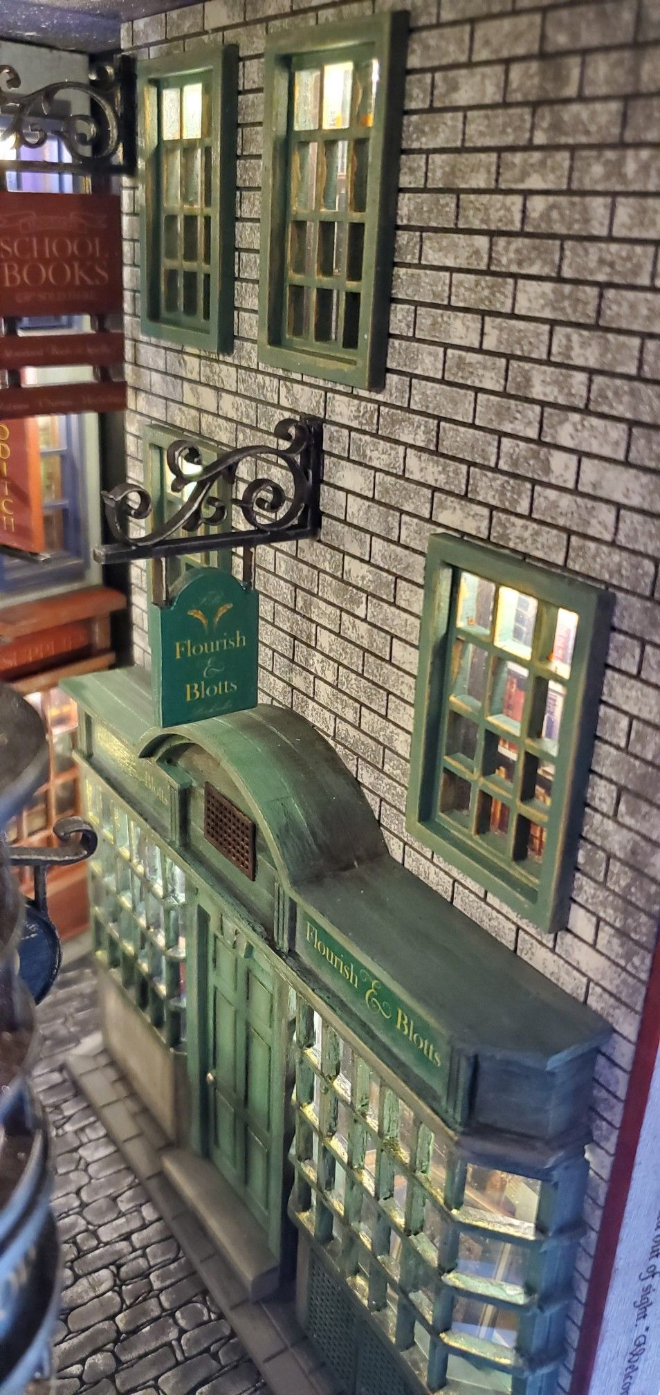 The Wizard S Book Nook Diagon Alley Inspired Design Book Shelf Insert Book Nooks Harry Potter Room Decor Miniature Houses