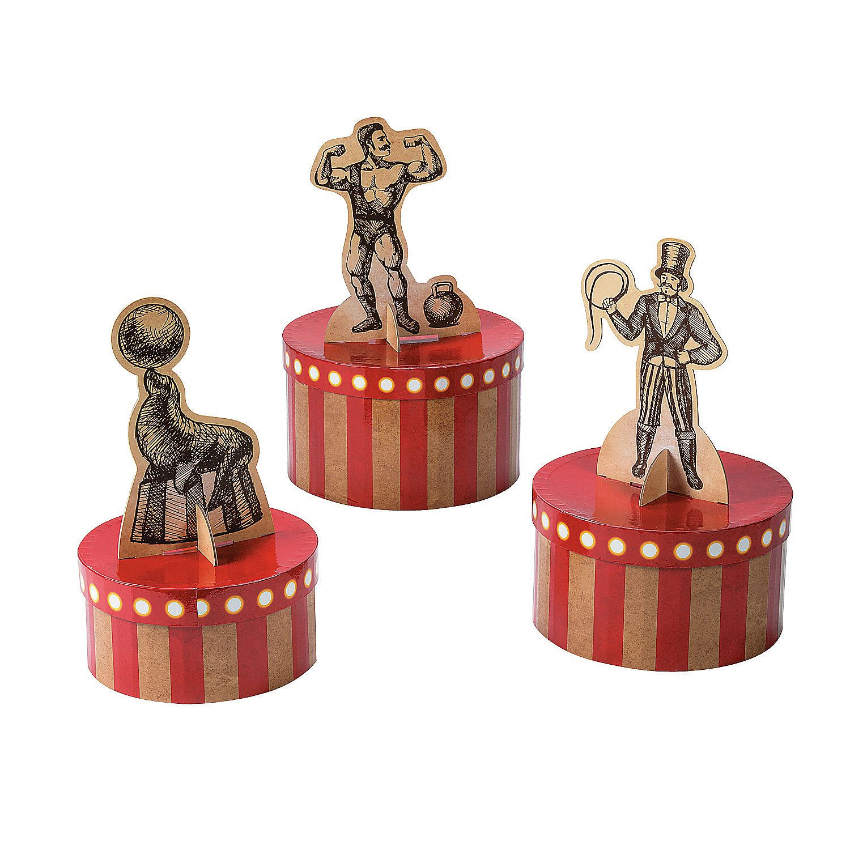 Vintage Circus Centerpiece Set - OrientalTrading.com | Baby shower ...
