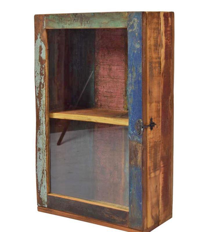 Hängeschrank Medizinschrank recyceltes Holz Badschrank Vintage ...