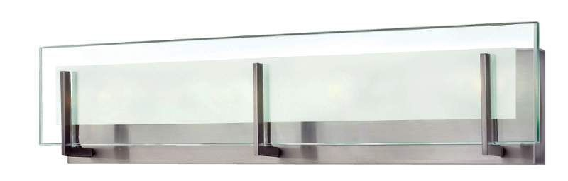 """Photo of Hinkley Lighting 5654BN-LED2 brushed nickel, width 26 """", wide bath bar with integrated LED"""