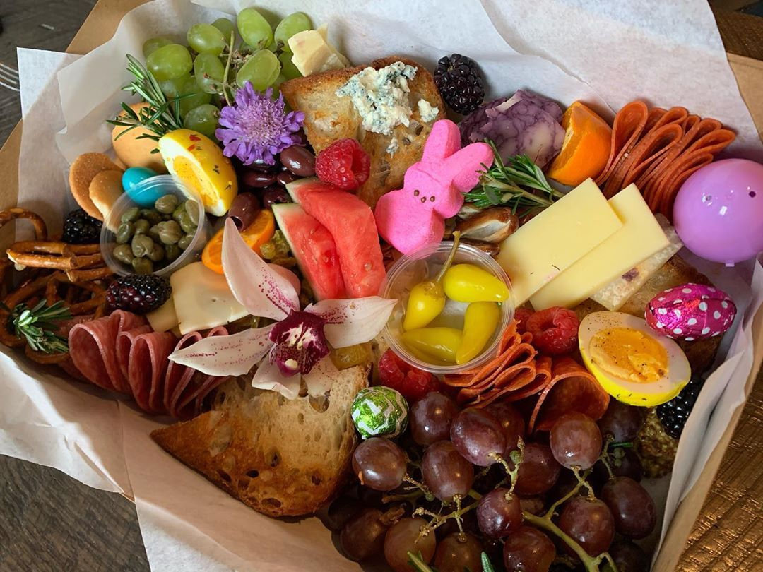 The Recess Room S Instagram Photo Celebrate Easter With Our Themed Charcuterie Box And Don T Forget To Personalize It With In 2020 Charcuterie Food Local Restaurant