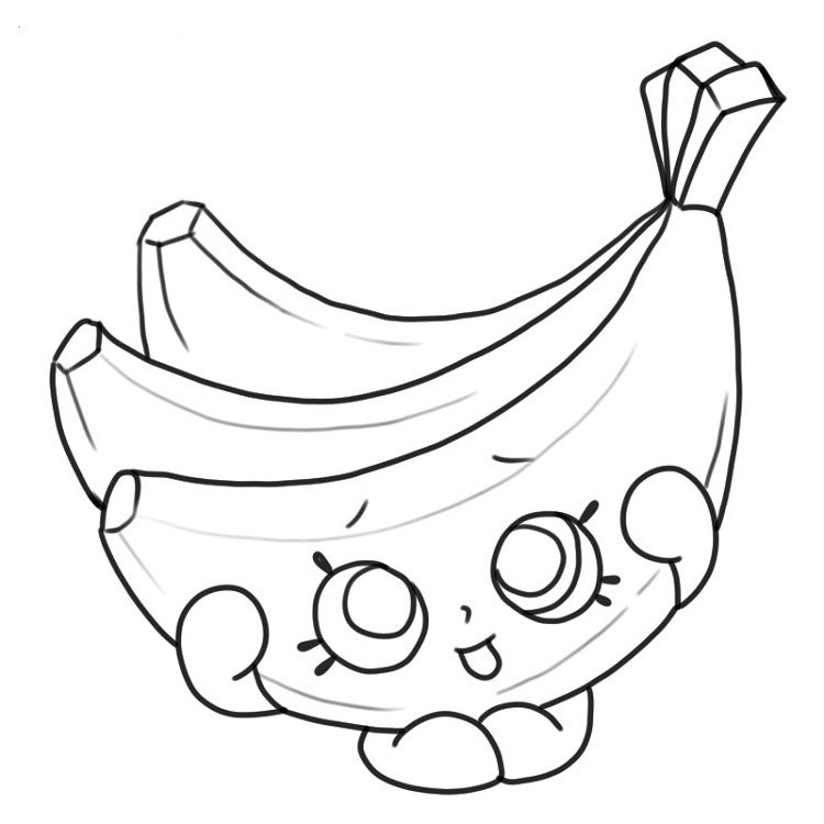 Coloring Page Banana Img 23171 Banana Crafts Coloring Pages