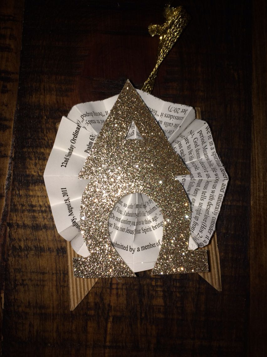 Alpha omega ornament for day 1 of advent if youre