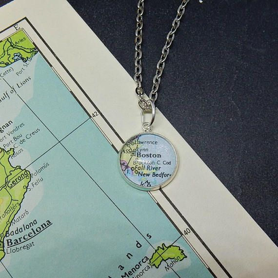 American map gift Boston gift New England present Boston