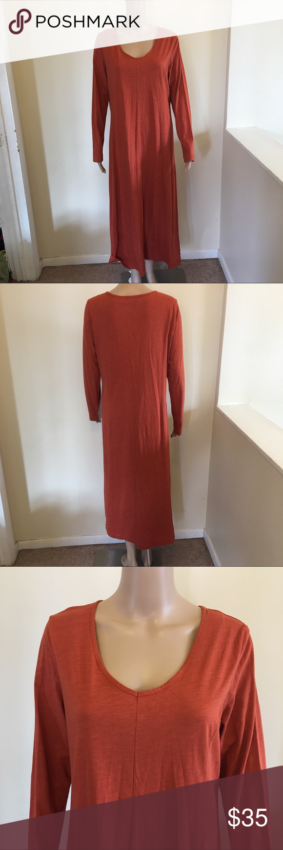 Jjill maxi dress long sleeve flow casual size m no flaws j jill