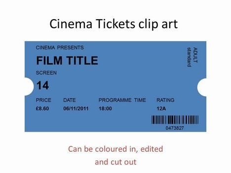 Powerpoint clipart - cinema ticket Favourite PowerPoint - movie ticket template for word
