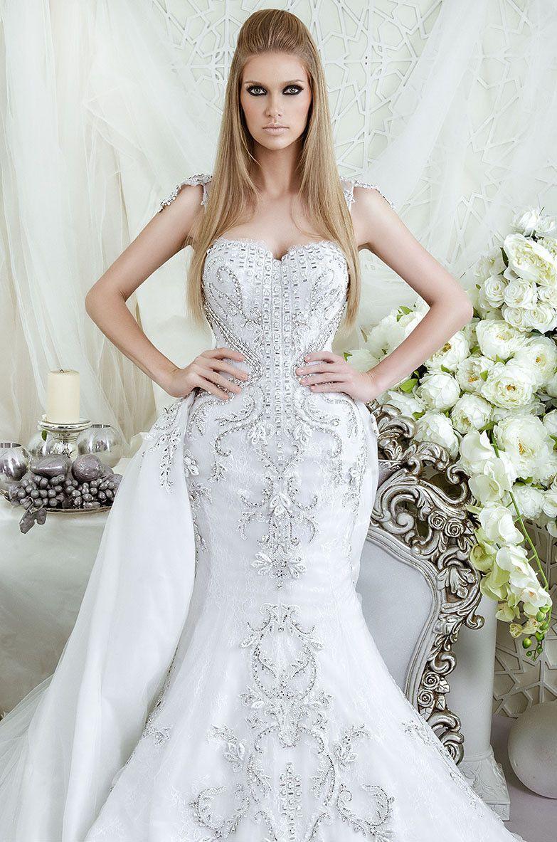Latest boho rhinestone wedding dress rlw vestido de noiva luxury