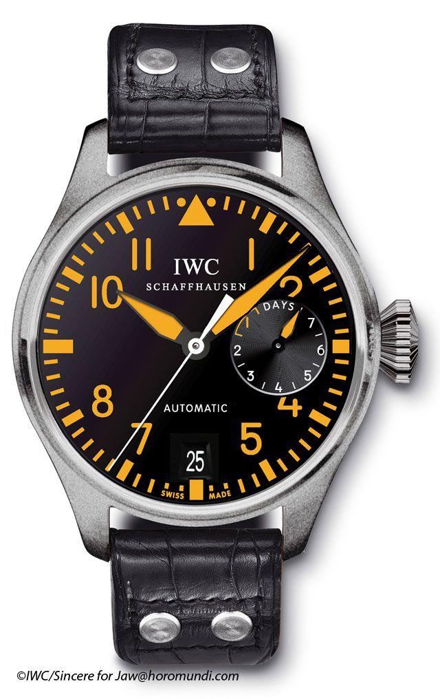 4ff3a4b008d Oranje Big Pilot van IWC - Monochrome Watches
