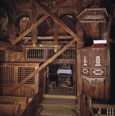Urnes Stave Church Viking House Architecture Cathedral Church