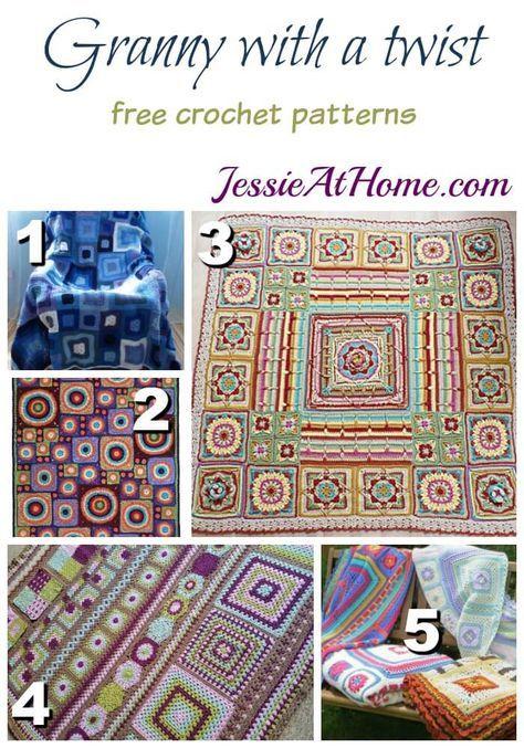 5 Unique Crochet Granny Square Blanket Patterns Crochet
