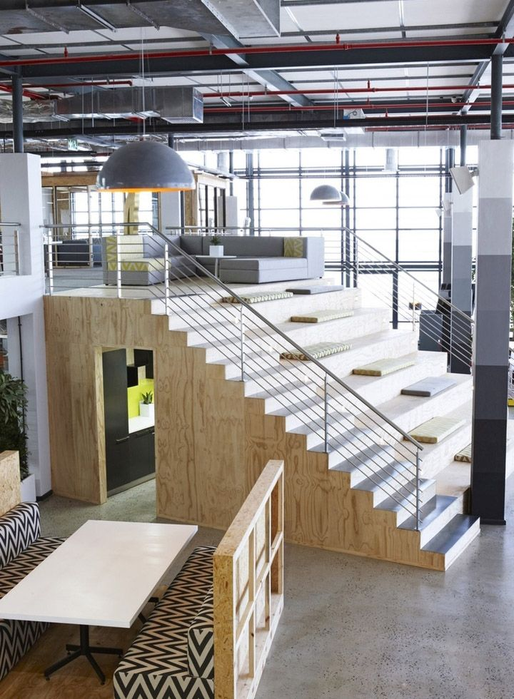 Inhouse brand architects have designed the new offices of south african ad agency  located in cape town also rh pinterest
