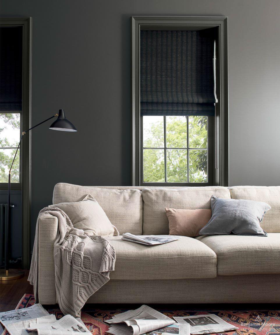 Color Trends Color Of The Year 2019 Metropolitan Af 690 Benjamin Moore Living Room Paint Trending Paint Colors Living Room Grey #trends #in #paint #colors #for #living #room