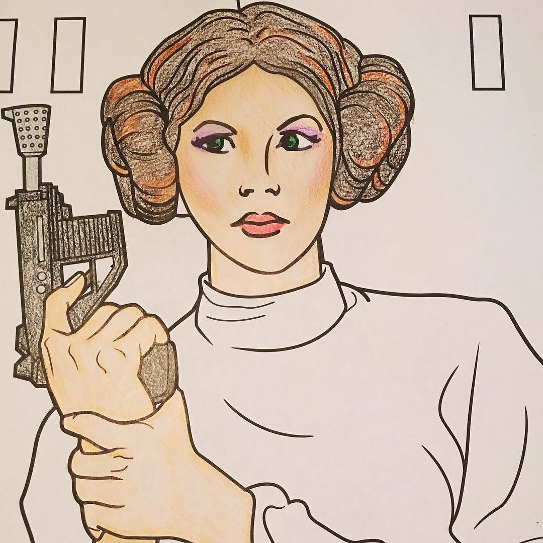 Princess Leia Got Some Contouring Tonight Coloring Really Helped Me