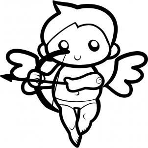 How to Draw Cupid for Kids, Step by Step, Valentines