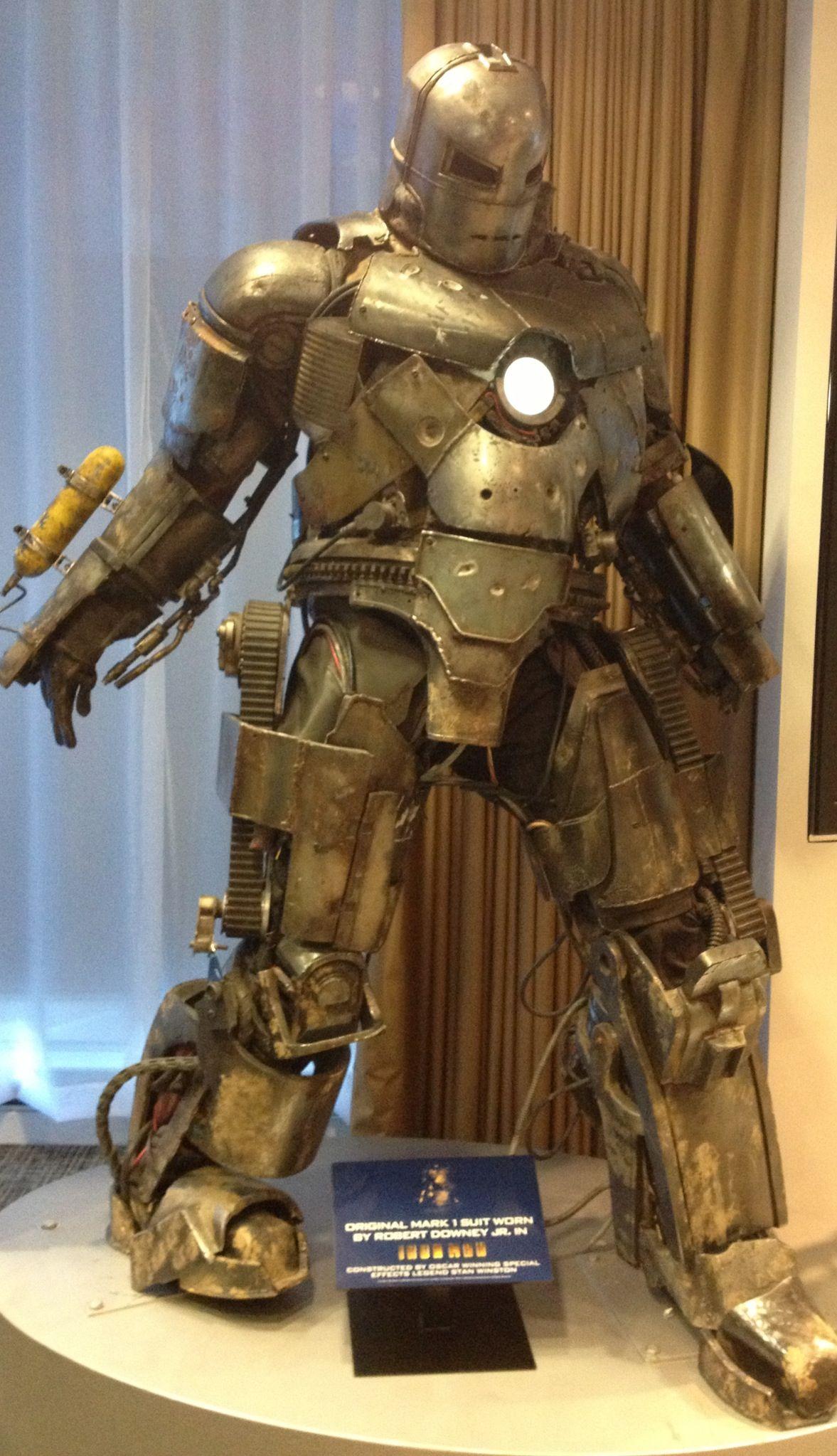 Original Iron Man Suit Worn By Robert Downey Jr In
