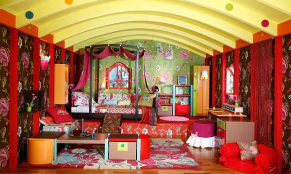 Lovely Colorful Floral Gypsy Decoration Ideas For Girls Bedrooms
