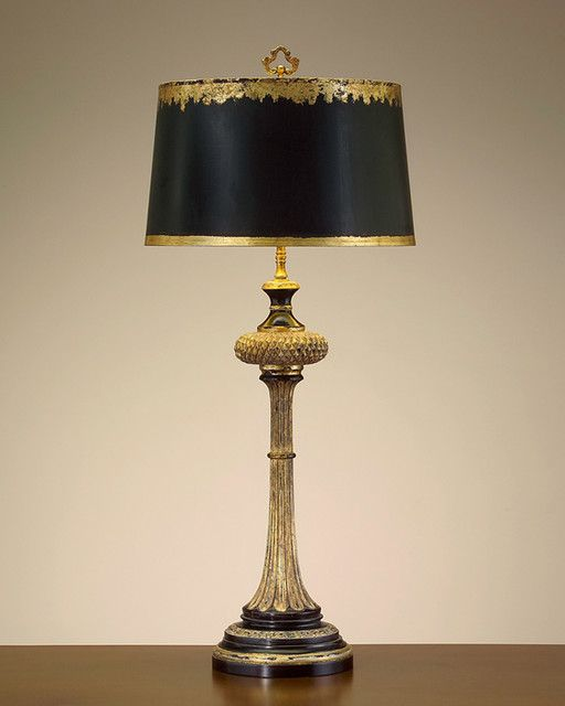 Charming Gold Fabric Lamp Shades And Black Lining