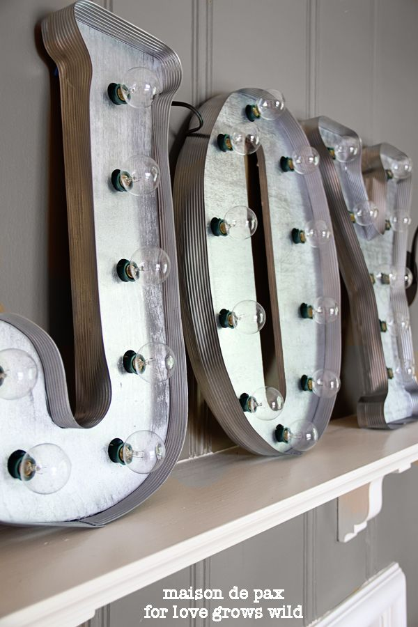 17 best images about marquee letters on pinterest mantles antique metal and light letters