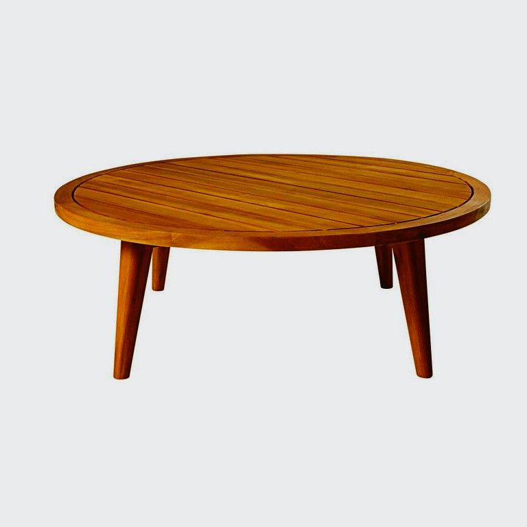Table Basse De Jardin Ronde En Acacia Massif Noumea