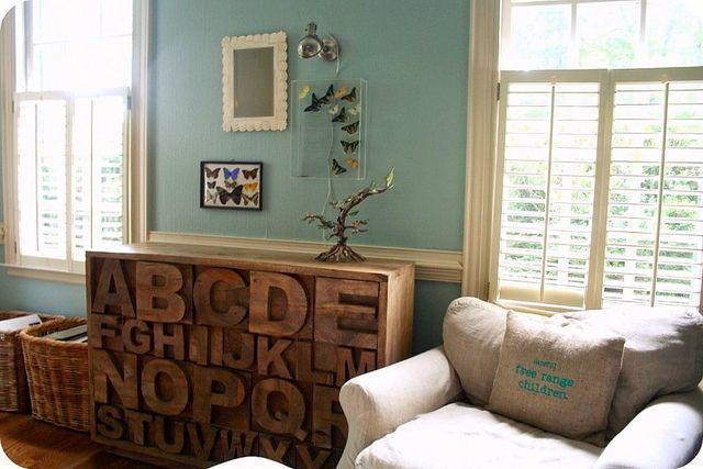 oh my goodness.. I love, love the alphabet furniture!