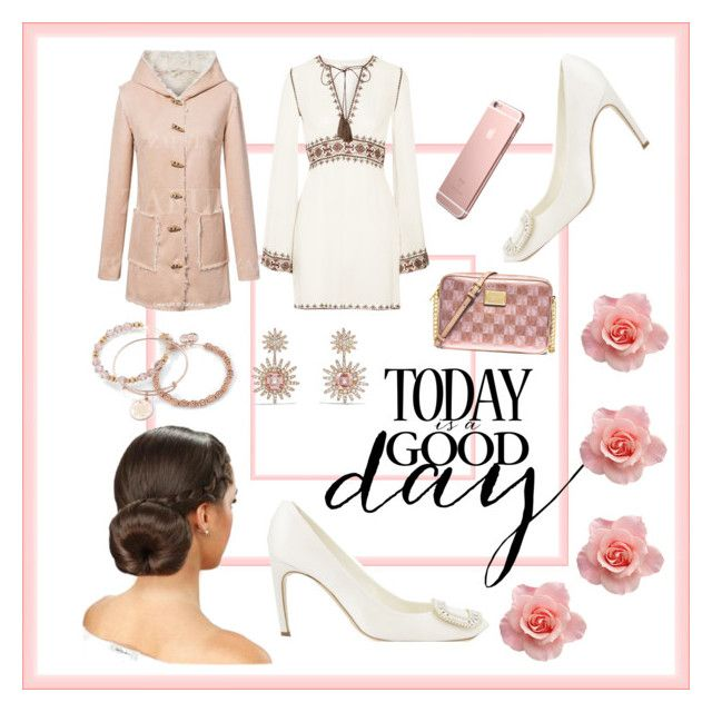 """""""today is a good day"""" by lhsbonez ❤ liked on Polyvore featuring Roger Vivier, Talitha, Alex and Ani, David Yurman and MICHAEL Michael Kors"""