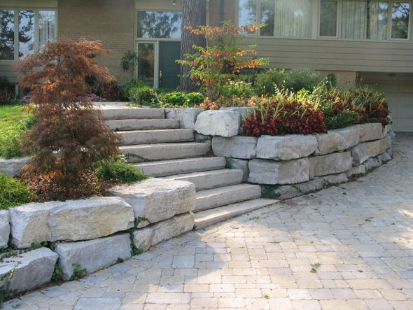 Front Entrance Landscaping Ideas Retaining Wall In 2019