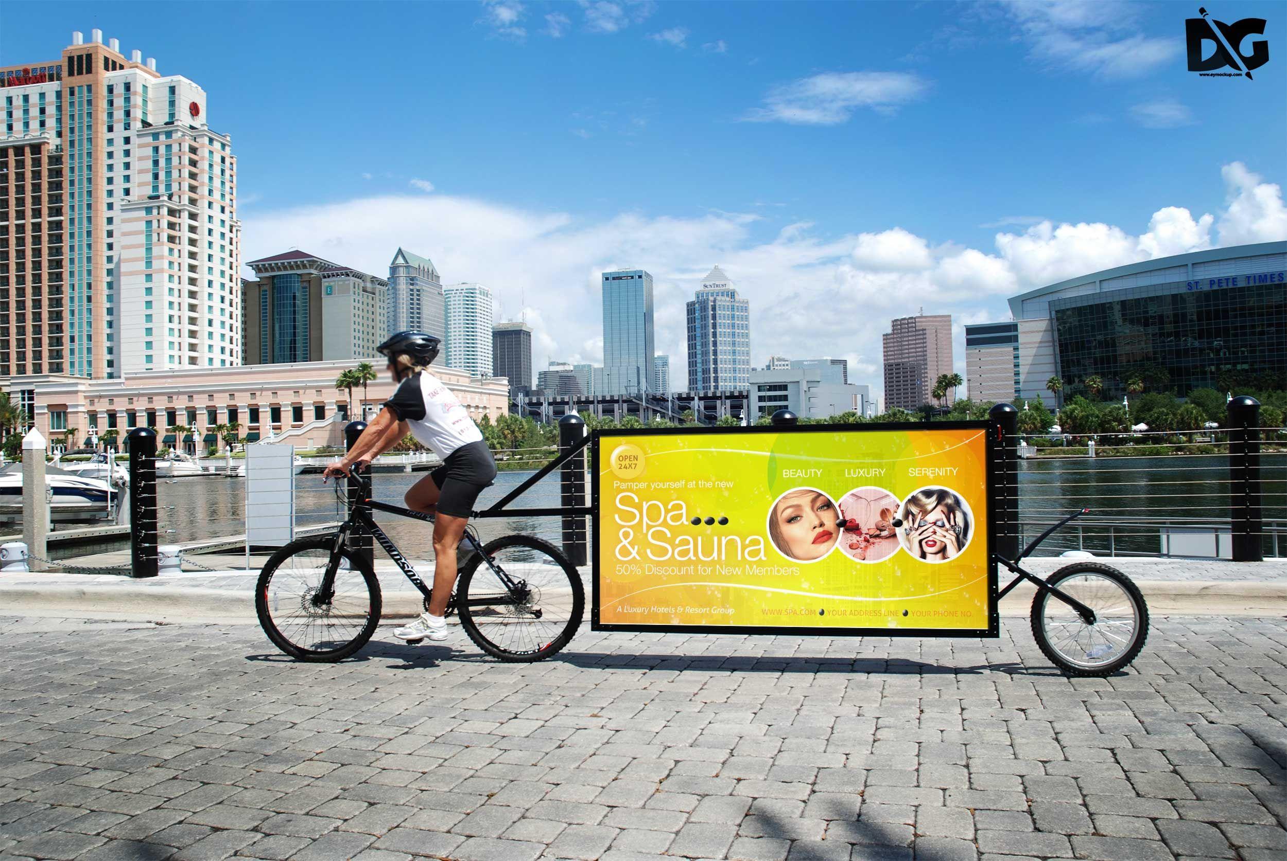 Download Free Mock Up Bicycle Billboard Bicycle Branding Download Downloadpsd Free Freemockup Freepsd Freebie Mock Mockup Free Download Mockup Free Psd Mockup