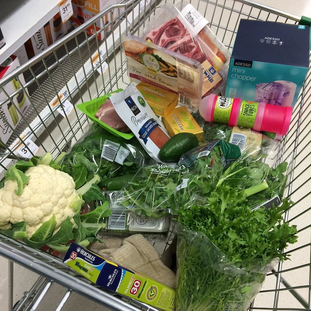 This is what my shopping trolley looks like on average! Plenty of Greens good quality meats & salmon Avos & of courseGrass Fed Butter! #healthyliving #bulletproofdiet #bulletproofbiohacker #bulletproof #shopping #trolley by evelynellenor