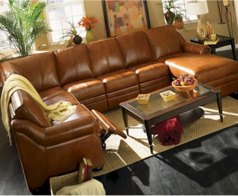 Charlotte Leather Reclining Sectional Leather Sectionals