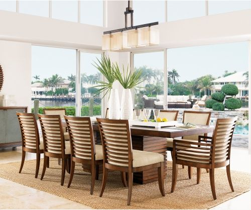 Tommy Bahama Ocean Club 11 Piece Peninsula Dining Set With Kowloon