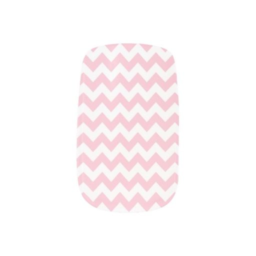 Whimsical Pink and White Patterns Minx Nails Fingernail Decals