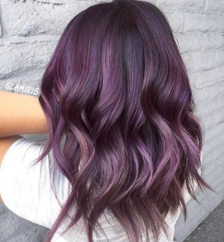 Hair color ash purple highlights 49 Ideasash
