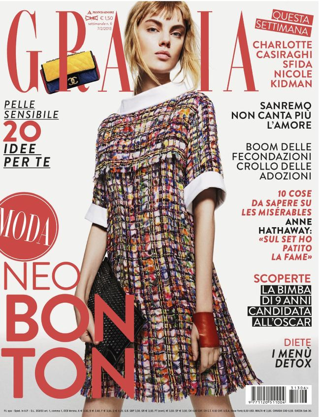 Grazia Italy 7th February 2013 Luize Salmgrieze by Haifa Olsen
