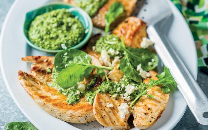 Chicken with spanakopita pesto chicken recipes instant