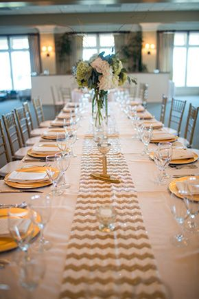 Gold Reception Table Ideas At Destination Wedding In South Carolina Beach With Navy