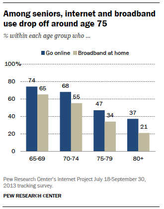 Unit  Development And Aging On The Internet Pew Research
