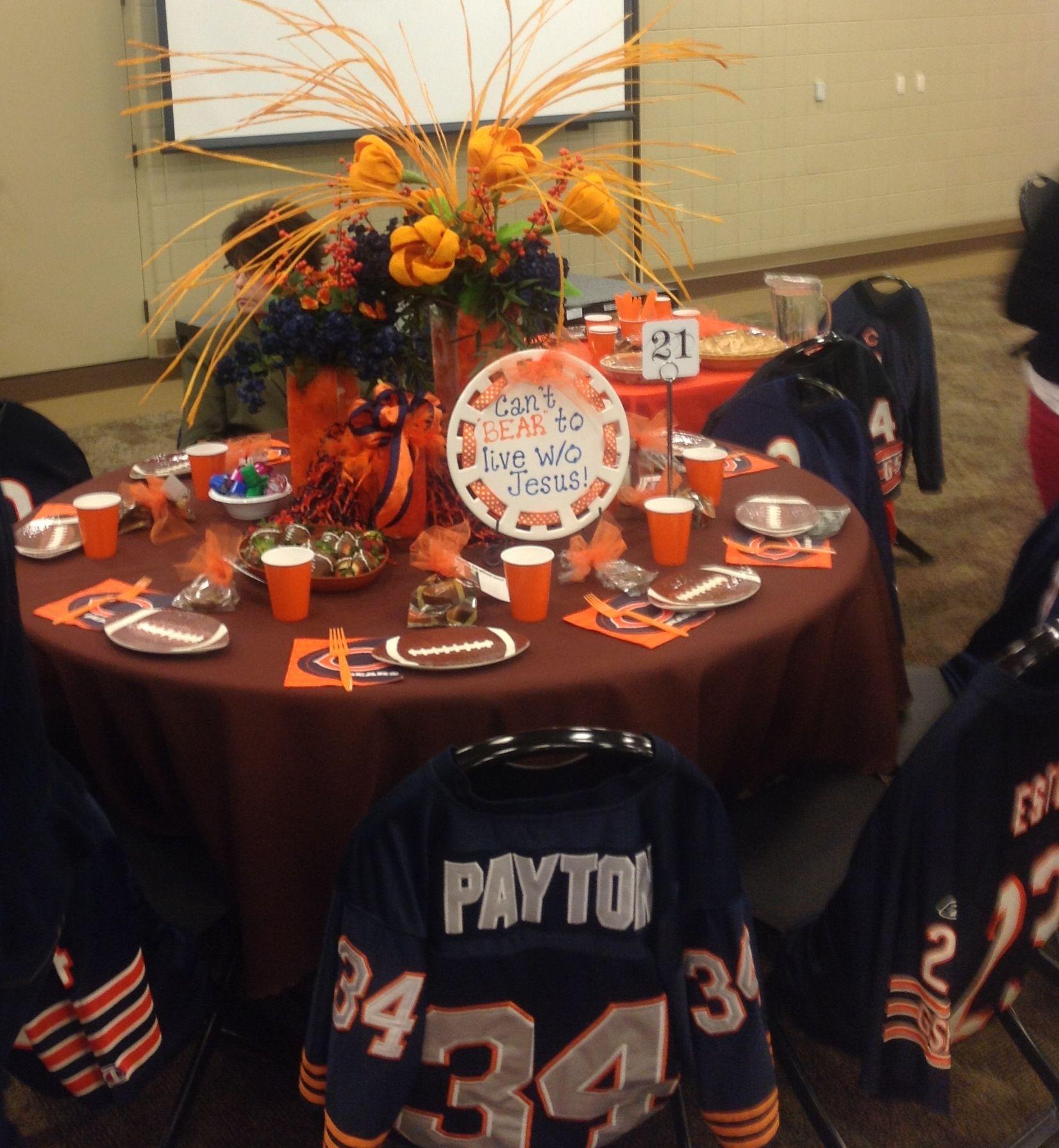 Chicago Bears theme  Table Decor  Bear wedding Chicago bears baby Bear party