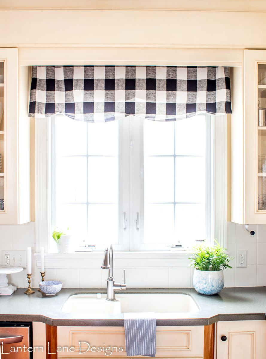 How to make your curtains look more expensive | Kitchen valances ...