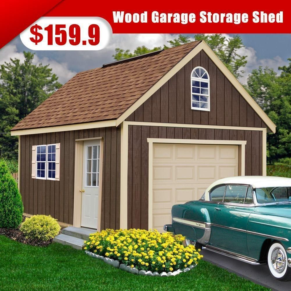 12 Ft X 16 Ft Wood Garage Storage Shed Wood Garage Kits Wood Shed Kits Best Barns