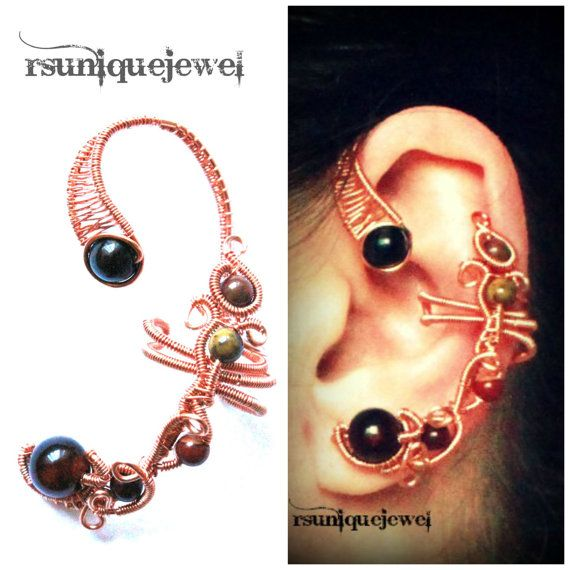 OAAK wire wrapped ear cuff by rsuniquejewel on Etsy, $25.00