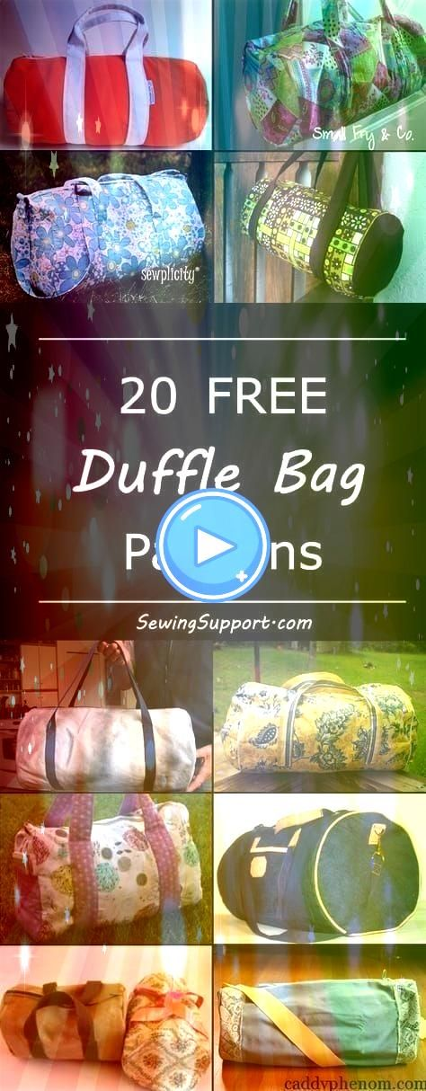 Free duffle duffel bag diy projects sewing patterns and tutorials Cute bags great dance or gym bags and for kids Free duffle duffel bag diy projects sewing patterns and t...