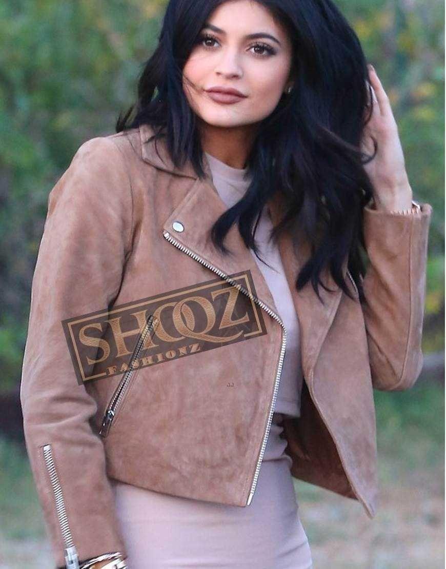 Women S Kylie Jenner Suede Jacket Celebrity Jackets Jackets Kylie Jenner [ 1110 x 870 Pixel ]