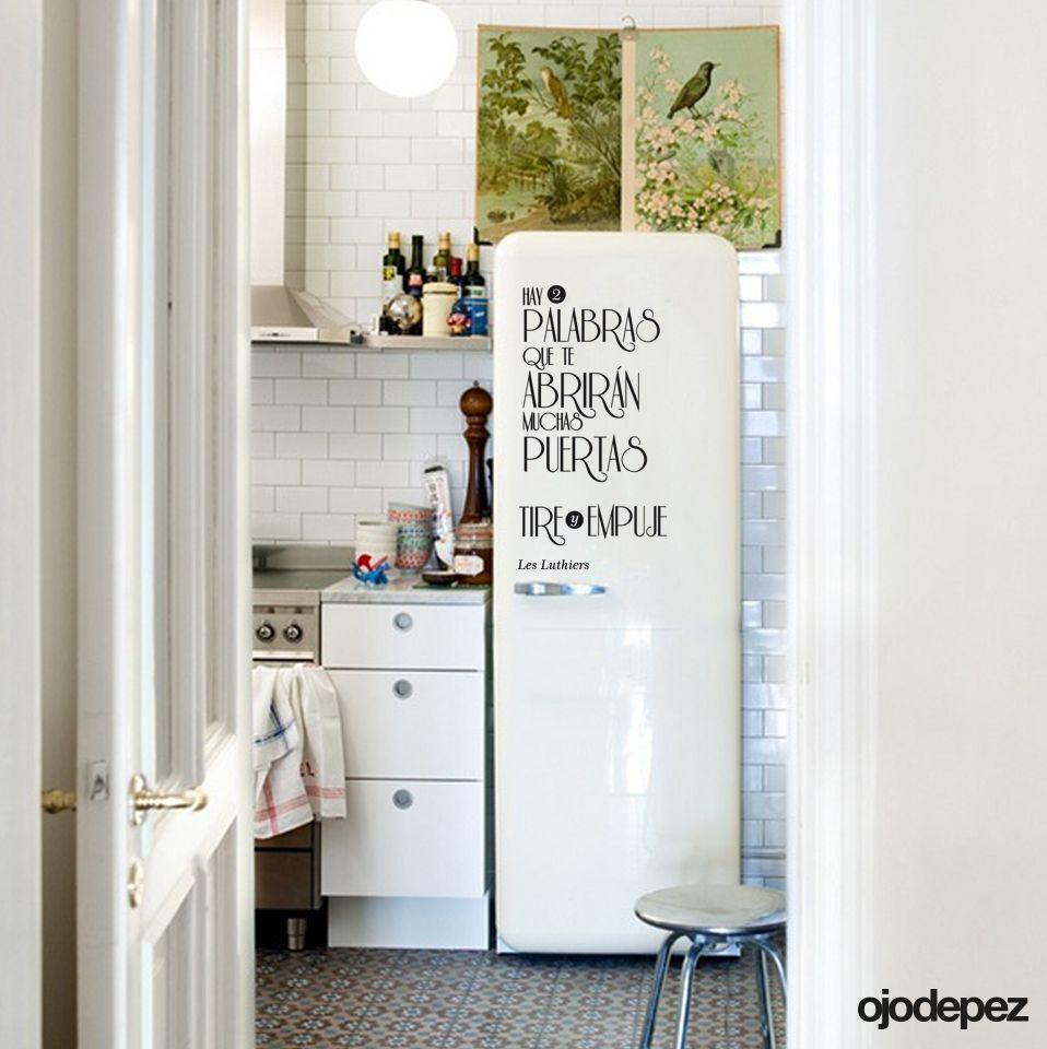 Vinilo decorativo frase 009 hay dos palabras que te - Vinilos para puerta ...