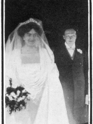 Winston And Clemmie At Their Wedding Photographic Print