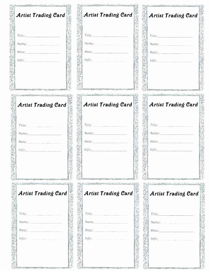 Microsoft word trading card template beautiful