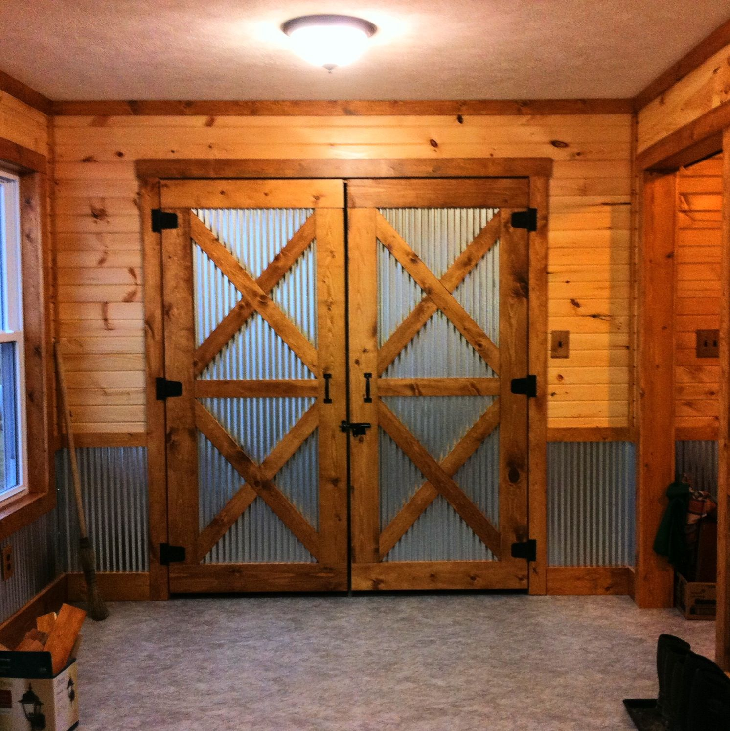 There Are Many Types Of Metal Roofing Materials Interior Barn Doors Barn Door Corrugated Metal